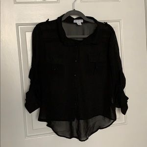 Sheer Black Blouse 🖤